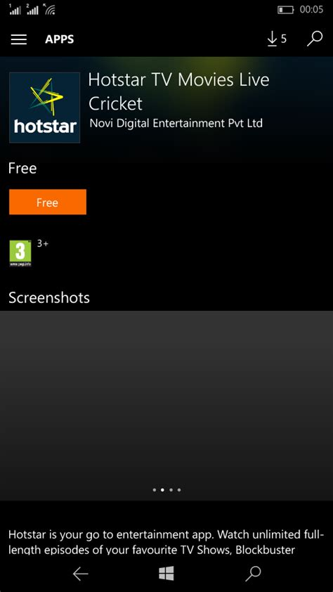 the windows brand new official hotstar app for windows phone