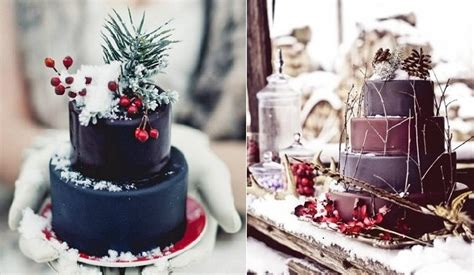 Rustic Winter Wedding Cakes Cake Geek Magazine