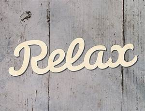 relax wooden script word letters wall door hanging sign ebay With relax letters