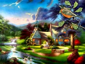 bird Cottage Summer Cottage – Abstract 3D and CG HD ...