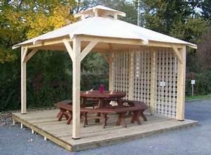 Tonnelle Terrasse : tonnelle bois sapin du nord ~ Melissatoandfro.com Idées de Décoration