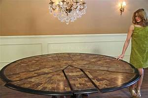 84 Round Dining Table Opens Spacious Hang Out Point