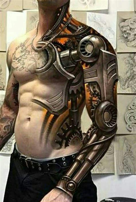 tattoos ssg robot tattoo biomechanical tattoo tattoos