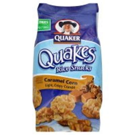 quaker quakes rice snacks caramel corn  oz pack