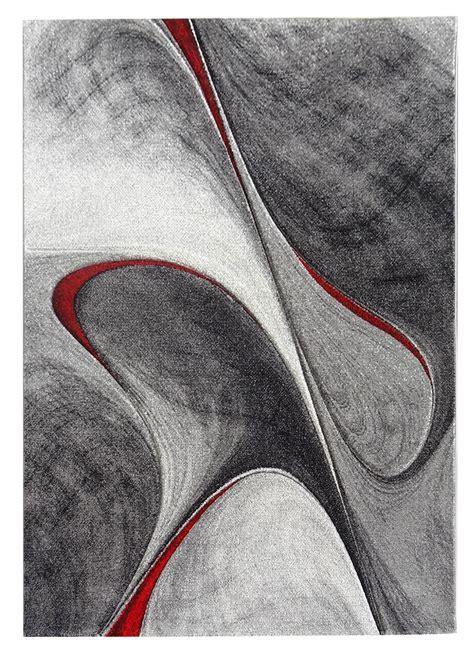 tapis salon madila rouge tapis gris