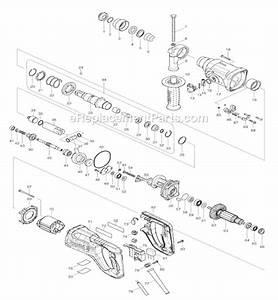Makita Hr2475 Parts List And Diagram   Ereplacementparts Com