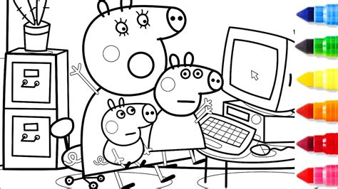 peppa pig mummy pig computer coloring pages peppa