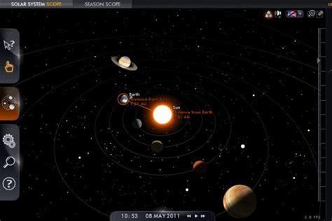 solar system scope mapa interactivo   del sistema solar soft apps