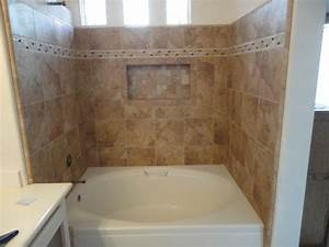 Irvine Soaking Tub With Rain Glass Shower Doors Recessed