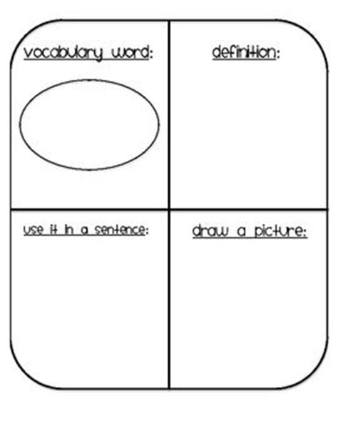 vocabulary template this is a vocabulary template to use when introducing new words to your students you can use it