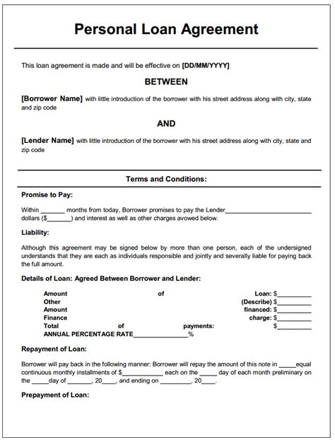 loan agreement real estate forms