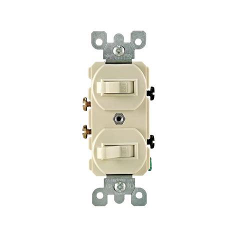 single pole switch leviton 15 amp single pole double rocker switch ivory r51 05224 2is the home depot