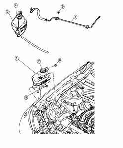 2008 Chrysler Sebring Bottle  Pressurized Coolant  Engine  Cooling  Tank
