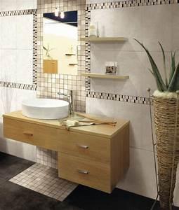 superbe carrelage mosaique salle de bain 4 frises With salle de bain frise mosaique