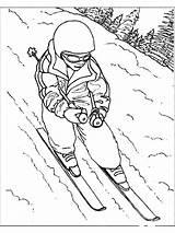 Colorat Iarna Desene Planse Coloring Creion Ski Skiing Cu Desenat Copii Natura Ausmalbilder Pentru Anotimpuri Om Desen Fise Foi Anotimpul sketch template