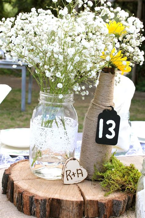 country wedding table decorations elegant country wedding table centerpieces mason jar