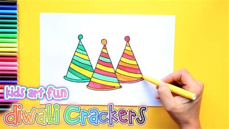 draw  color diwali crackers anar  flower pot