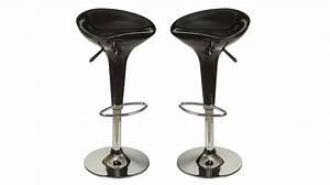 Tabouret Pas Cher : tabourets de bar design noir chaise design pas cher ~ Farleysfitness.com Idées de Décoration