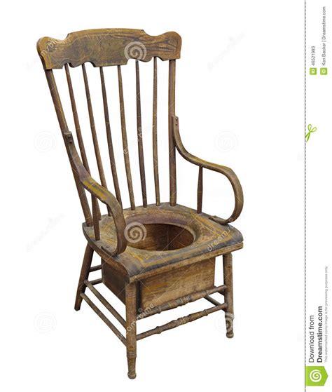 chaise pot vieille chaise de pot adulte en bois d 39 isolement photo