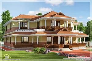 Keral model 5 bedroom luxury home design