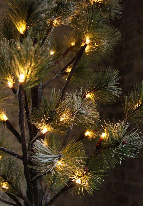 snowy alaskan cluster light tree 4 foot snowy pine tree 56 lights buy now
