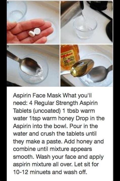Aspirin and Honey Face Mask