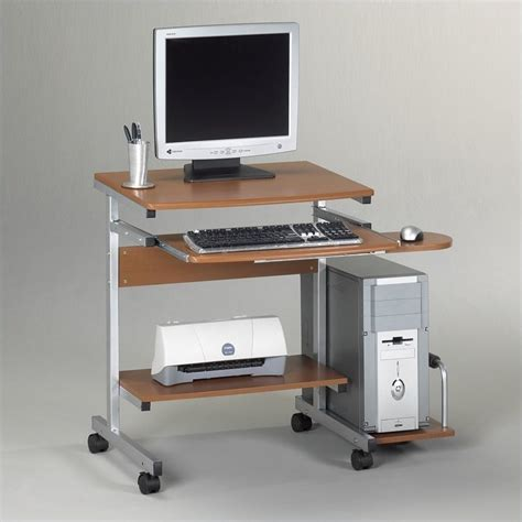 mobile computer desk for home mayline eastwinds portrait mobile wood computer cart 946