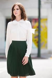 Midi Skirts for Women Fall Skirts Pleated Skirt Green Skirt Work Wear u2013 Morning Lavender ...
