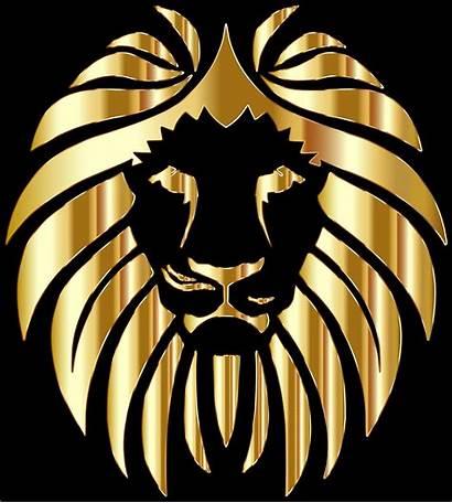 Lion Gold Golden Clipart Lions Leo Zodiac