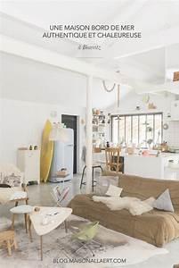 Deco Maison Bord De Mer : d couvrez la d co authentique et naturelle de cette magnifique maison de biarritz la d co bord ~ Teatrodelosmanantiales.com Idées de Décoration