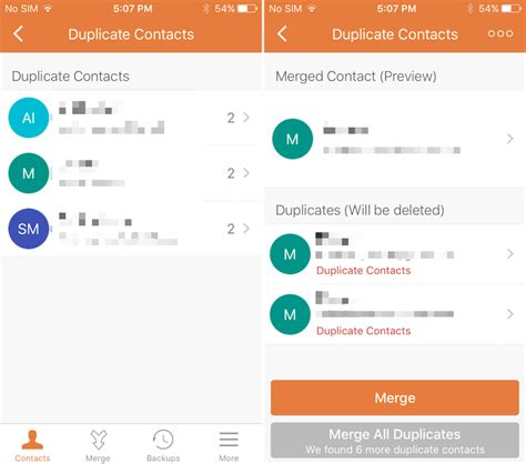 merge contacts iphone best iphone apps for deleting duplicate contacts