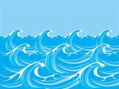 Waves Sea Vector Ocean Wave Clipart Background