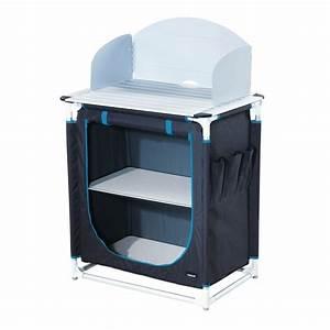 Meuble Rangement Camping : meuble mobilier camping meuble cuisine camping trigano gris turquoise trigano ~ Teatrodelosmanantiales.com Idées de Décoration