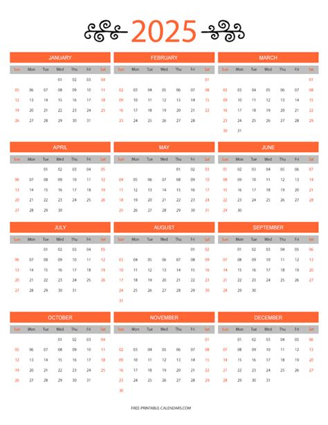 month color calendar printable calendars