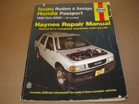 electric and cars manual 1994 isuzu amigo electronic valve timing find 1989 02 isuzu rodeo amigo honda passport shop service repair manual2 2 2 3 2 6l motorcycle
