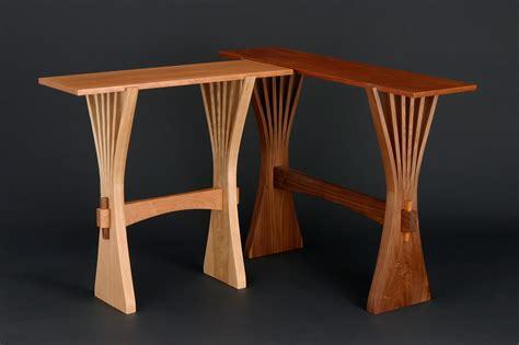 Tables Furniture by Abanico Table Custom Hardwood Console Table Seth