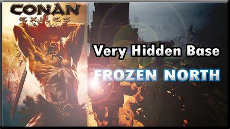 conan exiles  hidden base frozen north youtube