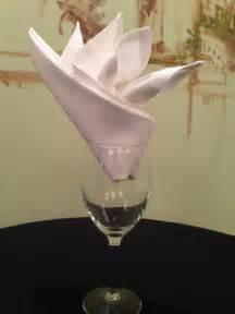 Bird of Paradise in a Glass Napkin folding Napkins