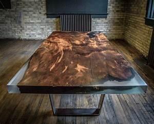 Meuble Bois Et Acier : les meubles en bois brut sont une jolie touche nature pour l 39 int rieur ~ Teatrodelosmanantiales.com Idées de Décoration