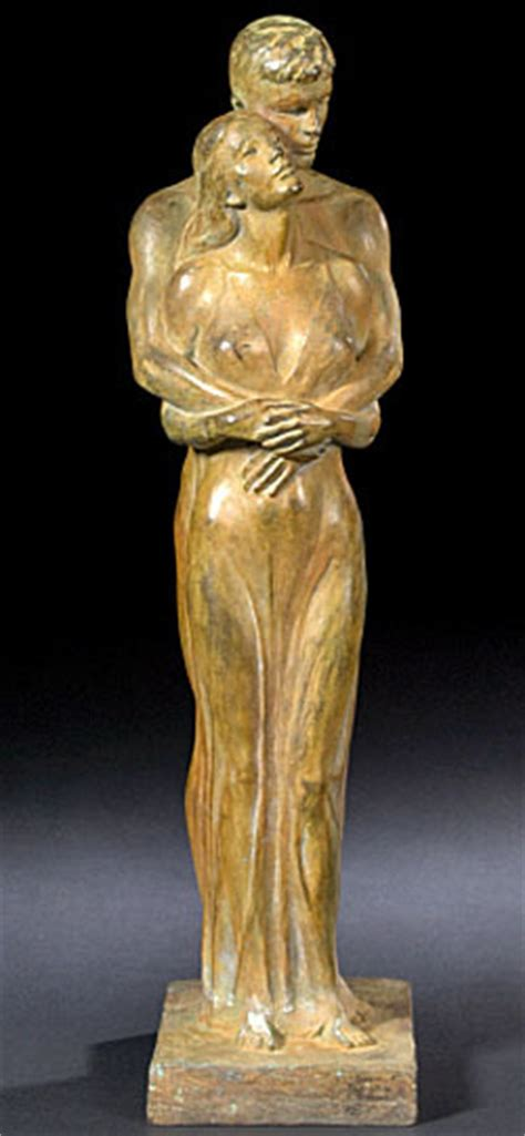 bronze sculpture barthe richmond signed  lovers