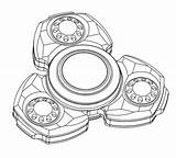 Spinner Fidget Drawing Coloring Pages Draw Drawings Finger Stainless Gold Aero Titanium Gyroscope Toy Steel Paintingvalley sketch template