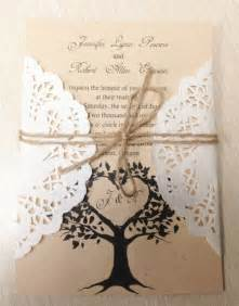 brides wedding invitation kits diy country rustic lace wedding invitations at