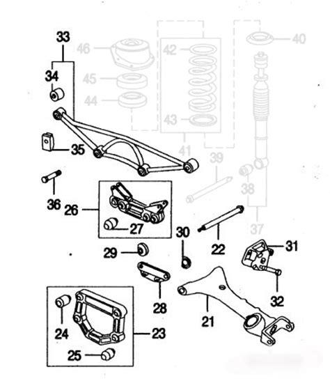 Jaguar Suspension Parts by Jaguar Xk8 Xkr Rear Suspension Parts Layout 1 Jaguar Xk8