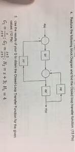 Solved  Reduce The Following Block Diagram And Find The Cl