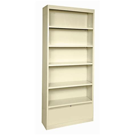 Steel Bookcase by Sandusky Putty Storage Steel Bookcase Bd40361884 07 The