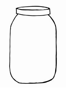 Mason Jar clipart black and white - Pencil and in color ...