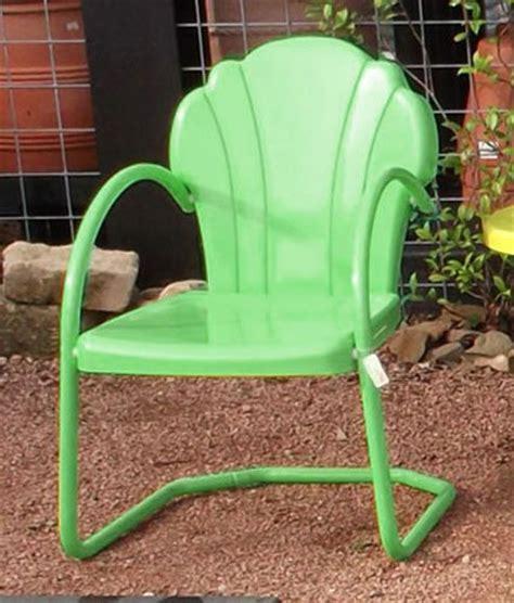 buy parklane retro metal lawn chair honeydew low prices