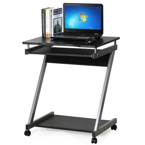 Computer Desk Zshaped With Keyboard Shelf Home Office