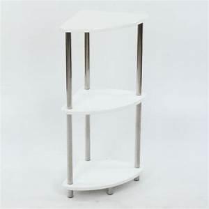 Petite étagère D Angle : etagere d 39 angle socity finition laqueee achat vente meuble tag re etagere d angle blanc ~ Teatrodelosmanantiales.com Idées de Décoration