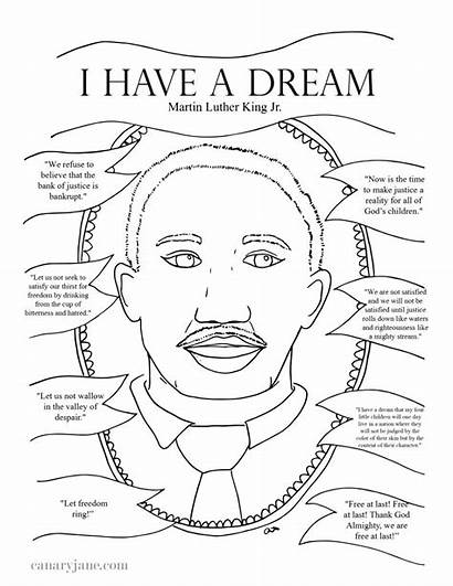Luther Martin King Printable Jr Coloring Instructions